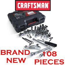 *New* CRAFTSMAN 108 Piece Mechanics Tool Set Alloy Steel Socket Wrench Ratchet