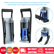 Portable Soda Can Crusher Wall Mounted Aluminum 16oz Beer Recycling Smasher Tool