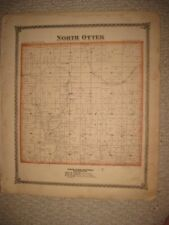 Antique 1875 North Otter Bunker Hill Township Macoupin County Illinois Map Rare