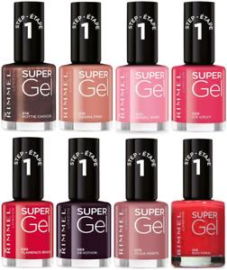 Rimmel London Super Gel Nail Polish 12ml - NEW - **Choose Your Shade**