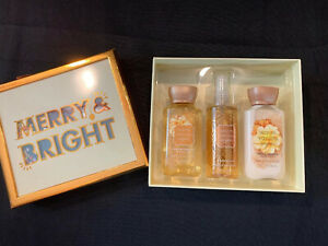 Bath & Body Works Warm Vanilla Sugar Summer Birthday Gift Set (Travel-Sizes)