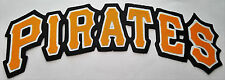 "HUGE PITTSBURGH PIRATES IRON-ON PATCH - 3.25"" x 9.75"""
