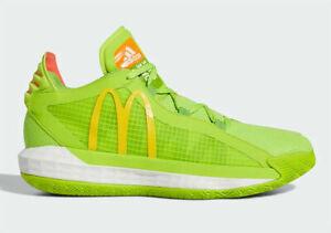 Men's Adidas McDonalds Dame 6 Dame Sauce Lillard Basketball FX3334 Size 9.5