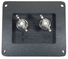 "Square Subwoofer Speaker Box Terminal Cup, Ring Terminal Hook Up 1/2"" Thick USA"