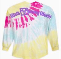 Walt Disney World Parks Spirit Jersey Pastel Tie Dye Pink Blue NWT M Medium