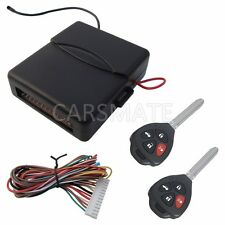 Universal Car Keyless Entry System Four Buttons Remote Controls With Blank Keys