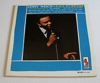 Lenny Welch 1966 Kapp Mono Promo LP Rags To Riches Northern Soul cLEAn! NM