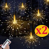 2 Xmas LED Licht Lichtervorhang Fernbedienung Weihnachtsbeleuchtung Lichterkette