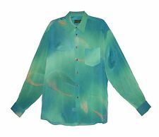 Extrema by Zanetti Turquoise Women's Shirt, Size L, Made in Italy