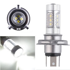 Motorcycle 80W H4 9003 LED Bulb Driving Turn Signal Brake Light 6000K White 12V