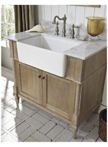 """Fairmont Designs 142-FV36 Rustic Chic 36"""" Farmhouse Vanity Base Cabinet Only Oak"""