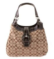 NWT $358 COACH Soho Signature Hobo Satchel Shoulder Bag Khaki Handbag Purse NEW