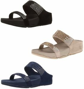 FitFlop Women's Flare Suede Slide Sandals