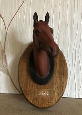BESWICK HORSE ARKLE RACEHORSE HEAD ON WOODEN PLAQUE CHAMPIONS ALL No 2700