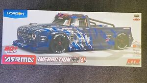Arrma infraction blue BLX 6s