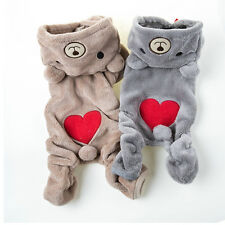 Chihuahua Teddy Dog Puppy Pet Jumpsuit Pajamas Warm Jacket Coat Clothes、PDS