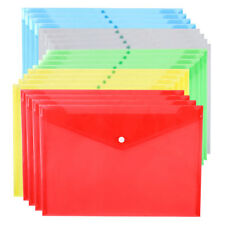 20pcs A4 Clear Document File Folder Project Pockets Letter Size 5 Assorted Color