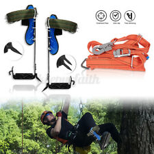Tree Climbing Spike Spurs, Safety Belt Straps Rope, Adjustable Stainless Steel