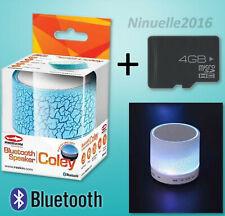 Tragbarer Bluetooth Lautsprecher Radio Licht Freisprechen + 4GB micro sd Karte