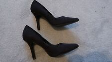 NEXT LADIES BLACK FAUX SUEDE SHOES SIZE 4.5 WORN ONCE - IMMACULATE