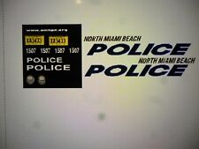 North Miami Beach Florida  Police  Car Decals 1:24