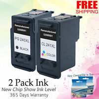 8 PK PG-240XL CL-241XL Combo Ink Set for Canon PIXMA MX 512 514 522 532 MG2120