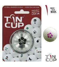 Tin Cup Metal Pelota Golf Plantilla - Aloha Diseño - Acero Inoxidable