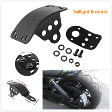 1×Motorcycle Side Mount License Plate Taillight Bracket Kit Fit For Honda Yamaha