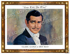GONE WITH THE WIND LOBBY PORTRAIT CARD POSTER 1939 CLARK GABLE as RHETT BUTLER