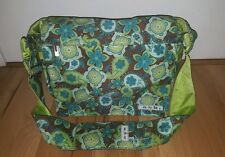 Ju Ju Be Diaper Bag LARGE turquoise green brown BETTER BE Paisley EXCELLENT!