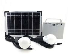 10W Portable Solar Powered System Home lighting kit for Camping fishing Charge