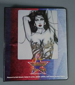 THE NEW AMERICAN PIN UPS FANTASY ART TRADING CARD BINDER (1998)