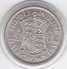 1939   King  George  VI   Half  Crown  (2/6d) -  Silver  Coin