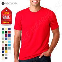NEW Next Level 100% Cotton Men's Premium Fitted Crew Neck 2XL-3XL T-Shirt B-3600