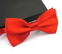 Fashion Satin Men's Pre Tied Wedding Party Fancy Plain Solid Necktie Bow ties