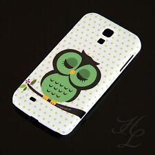 Samsung Galaxy S4 Hard Case Schutz Hülle Handy Schlaf Eule Grün Owl Etui
