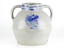 c1880 German Westerwald Large Salt Glaze Stoneware Urn Jar