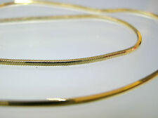 14K Solid Gold Italian SQUARE SNAKE Chain 1.25mm  W/ Lobster Clasp 16 inch 6.8 g