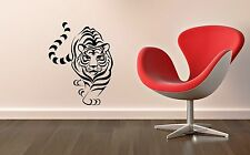 Wall Sticker Vinyl Decal Tiger Animal Design for Living Room Predator ig1238