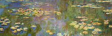 "Handmade Art Deco Oil Painting repro Claude Monet Water Lilies I 20""x60"""