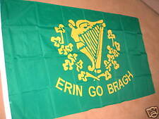 IRELAND IRISH ERIN GO BRAGH FLAG 5' X 3' POLYESTER POST FREE IN UK
