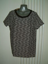 LADIES T SHIRT SIZE 12 NWT  KALEIDOSCOPE TOP  BLACK AND CREAM RRP £32
