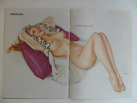 Alberto Vargas Sexy Girl Magazine Pin-Up Art - Laughing Laid Back