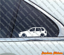 2x Lowered stickers auto aufkleber - for Opel Corsa B (5-Door)  | tuning