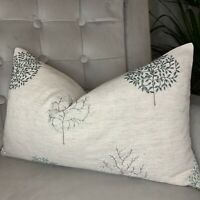 """Cushion Cover 12""""x20"""" John Lewis & Partners Wilverley Trees, Embroidered"""