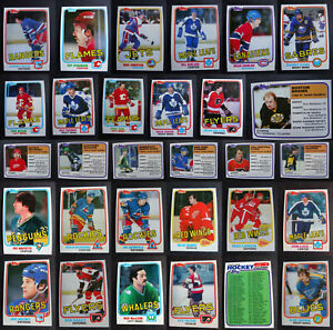1981-82 Topps Hockey Cards Complete Your Set U You Pick List 1-198