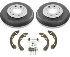 Fits 93-96 Ford Escort Tracer Mazda 323 (2) Rear Brake Drums Shoes Springs Kit