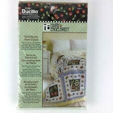 Bucilla Stamped Cross Stitch Mary Enelbreit - Mary's Quilt Block Set of 6 Blocks