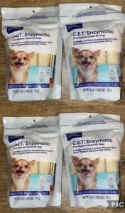 Virbac C.E.T. Enzymatic Oral Hygiene Chews for Dogs Extra Small 120 CT 4-Pack