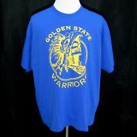 GOLDEN STATE WARRIORS Mens Blue Short Sleeve Graphic T-Shirt Size 2XL Basketball